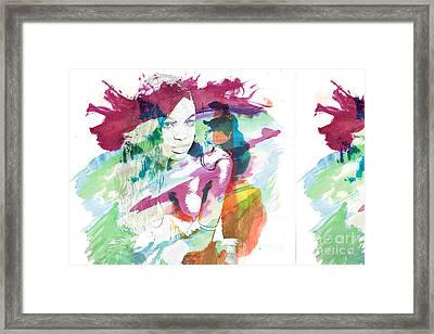 Amani African American Nude Fine Art Painting Print 4974.03 Framed Print by Kendree Miller