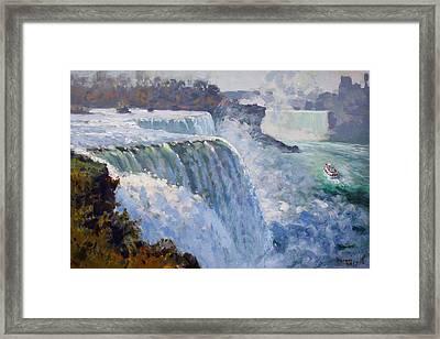 American Falls Framed Print