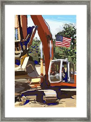 American Tractor Framed Print by Brad Burns
