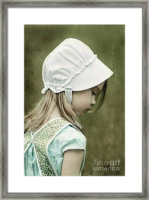 Amish Child Framed Print