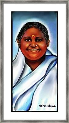 Spiritual Amma -the Hugging Saint Framed Print