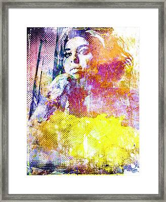 Amy Winehouse Framed Print by Svelby Art