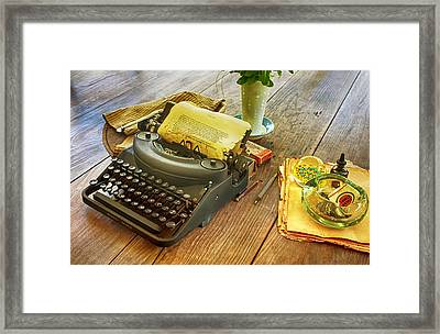 An Author's Tools Framed Print by Lynn Palmer