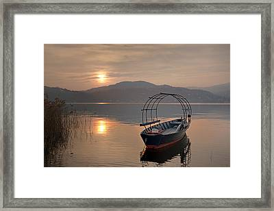 an evening at the Lake Maggiore Framed Print