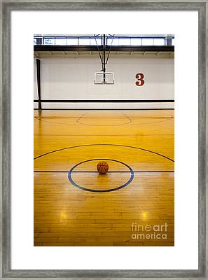 An Indoor Sports Venue. Basketball Framed Print by Christian Scully