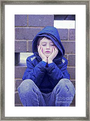 An Upset Child Framed Print
