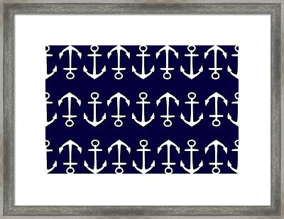 Anchor Framed Print by Chastity Hoff