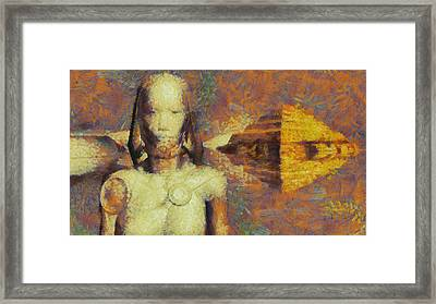 Ancient Aliens Framed Print by Raphael Terra