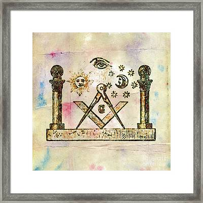 Ancient Freemasonic Symbolism By Pierre Blanchard Framed Print