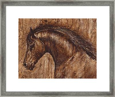 Ancient Glory Framed Print by Paula Collewijn -  The Art of Horses