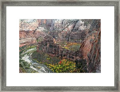 Angels Landing In Zion Framed Print by Pierre Leclerc Photography