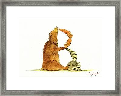 Animal Letter Framed Print