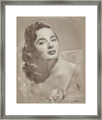 Ann Blyth, Vintage Actress Framed Print
