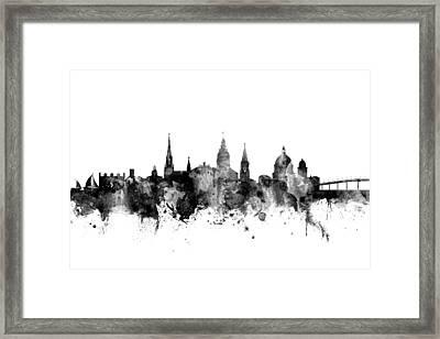 Framed Print featuring the digital art Annapolis Maryland Skyline by Michael Tompsett