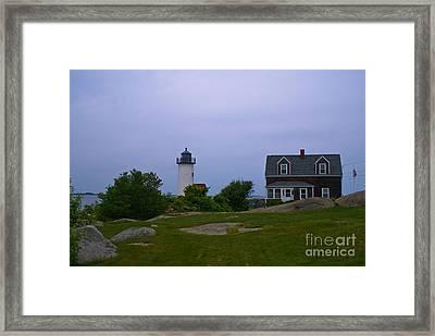 Annisquam Light. Gloucester, Ma. Framed Print