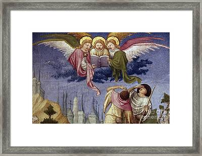 Annunciation To Shepherds Framed Print by Granger