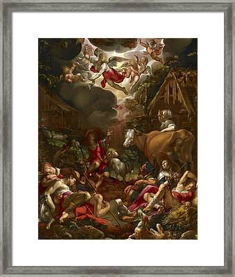 Annunciation To The Shepherds Framed Print