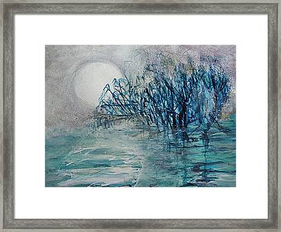 another  Moon river Framed Print by Mary Sonya  Conti