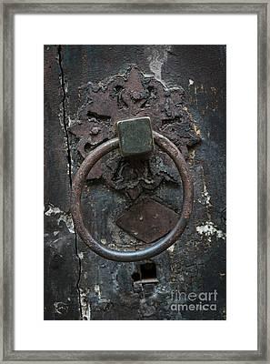Antique Door Knocker Framed Print by Elena Elisseeva