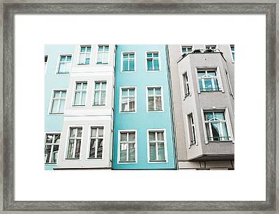 Apartment Buildings Framed Print by Tom Gowanlock
