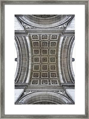 Arc De Triomphe Detail Framed Print