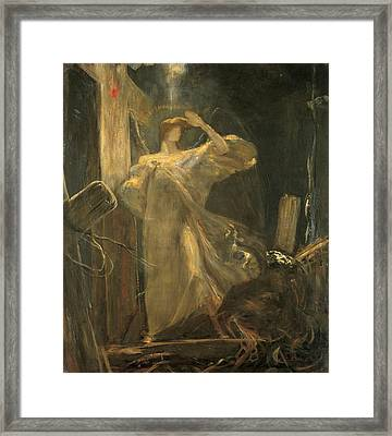 Archangel, Study For The Foundation Of The Faith Framed Print by Nikolaos Gyzis