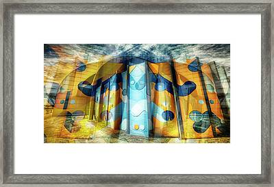 Framed Print featuring the photograph Architectural Abstract by Wayne Sherriff
