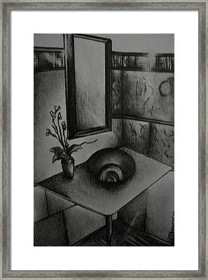 Architectural Bathroom Rendering  Framed Print by Stacey Abrams