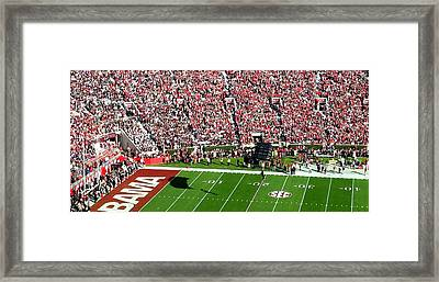 Army Rangers Drop In On Gameday Framed Print