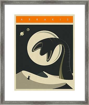 Arrakis Travel Poster  Framed Print