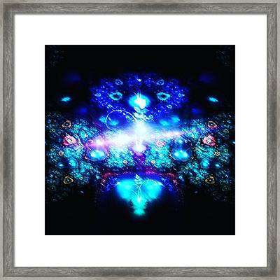 #art #abstract #digitalart #fractals Framed Print by Michal Dunaj