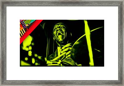 Art Blakey Collection Framed Print by Marvin Blaine