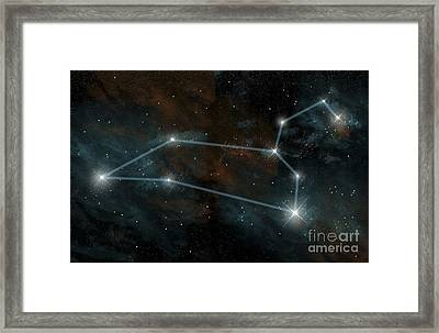 Artists Depiction Of The Constellation Framed Print
