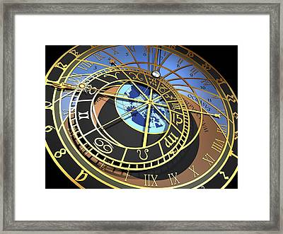 Astronomical Clock, Artwork Framed Print by Pasieka