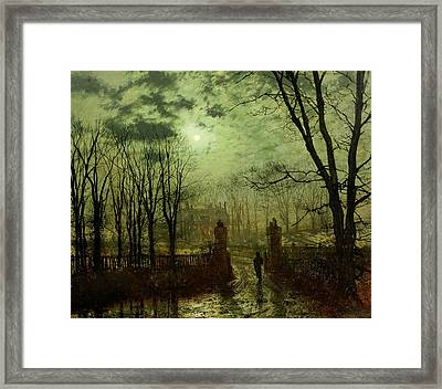 At The Park Gate Framed Print