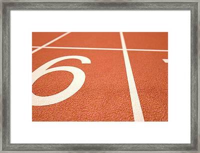 Athletics Track Startline Framed Print
