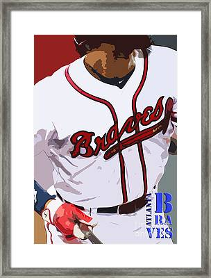 Atlanta Braves Original Typography Baseball Team Framed Print by Pablo Franchi