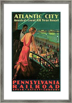 Atlantic City Pennsylvania Railroad Framed Print by Edward M Eggleston