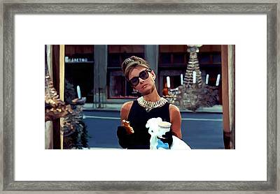 Audrey Hepburn @ Breakfast At Tiffanys Framed Print