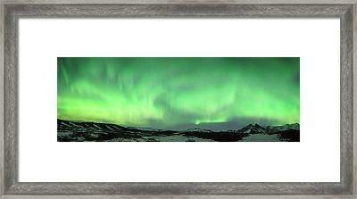 Aurora Borealis Or Northern Lights. Framed Print