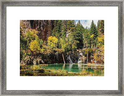 Autumn At Hanging Lake Waterfall - Glenwood Canyon Colorado Framed Print by Brian Harig