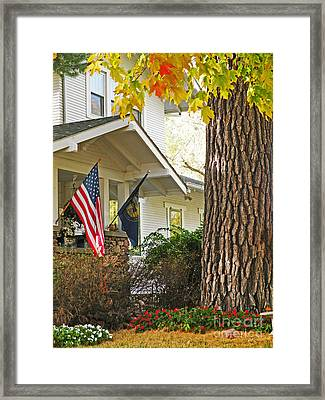 Autumn In Small Town America Framed Print by Christine Belt