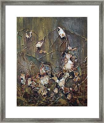 Framed Print featuring the painting Autumn Leaves by Joanne Smoley