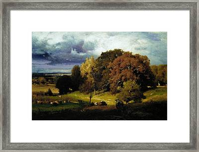 Autumn Oaks Framed Print