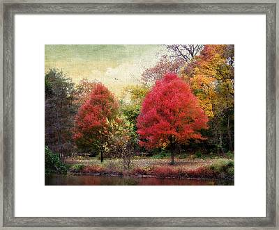Autumn's Canvas Framed Print by Jessica Jenney