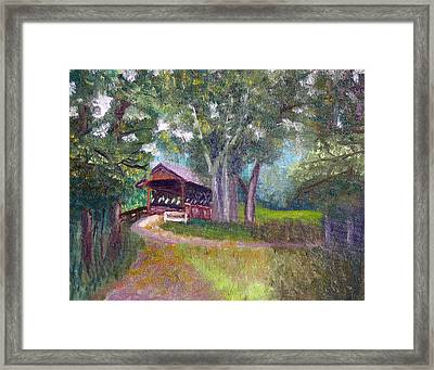 Avon Covered Bridge Framed Print by Stan Hamilton