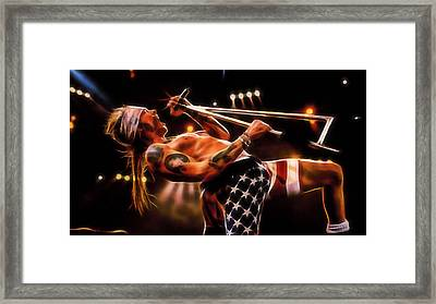 Axl Rose Collection Framed Print