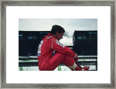Ayrton Senna. 1992 French Grand Prix Framed Print