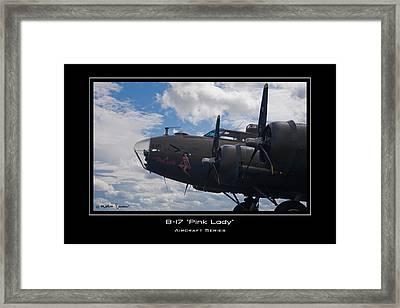 B-17 Pink Lady Framed Print by Mathias Rousseau