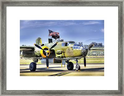 B-25 Bomber Framed Print